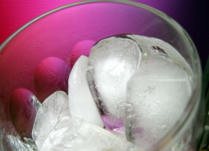 ice cubes for greek frappe